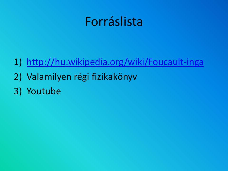 Forráslista http://hu.wikipedia.org/wiki/Foucault-inga