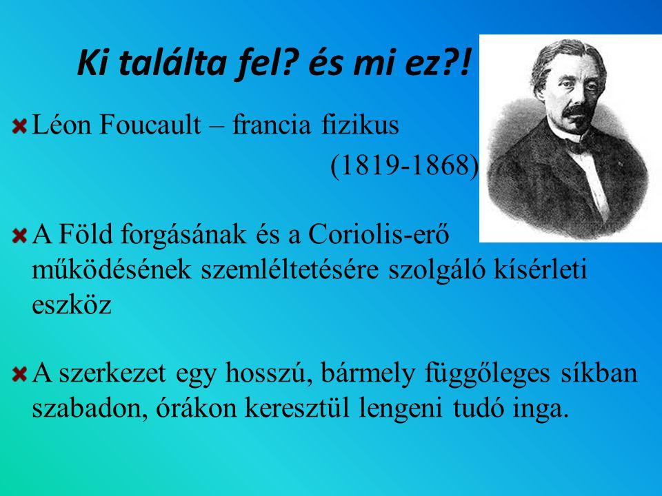Ki találta fel és mi ez ! Léon Foucault – francia fizikus (1819-1868)