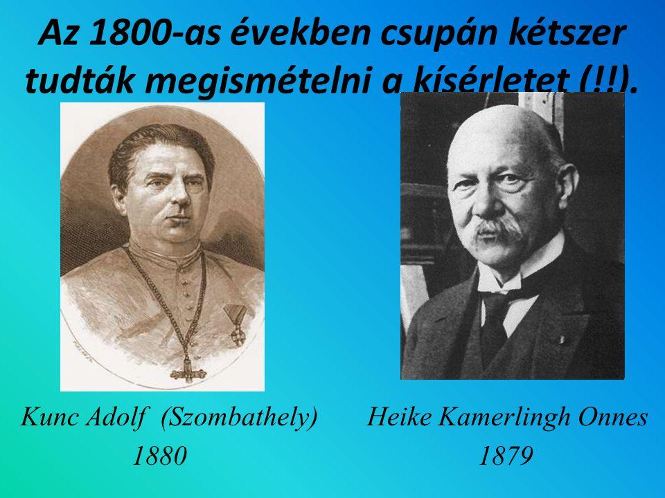 Az 1800-as években csupán kétszer tudták megismételni a kísérletet (!!).