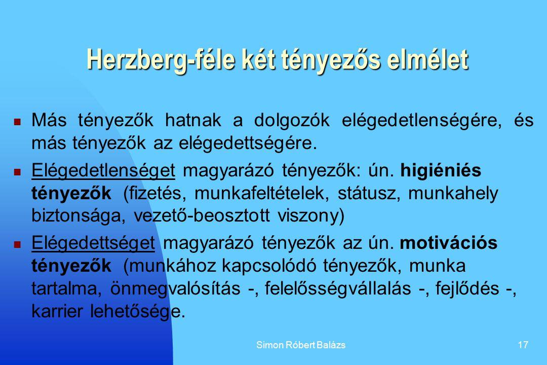 Herzberg-féle két tényezős elmélet