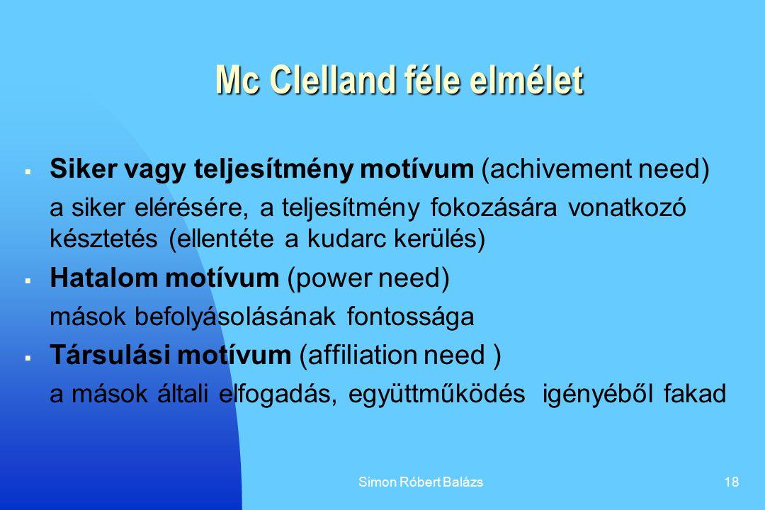Mc Clelland féle elmélet