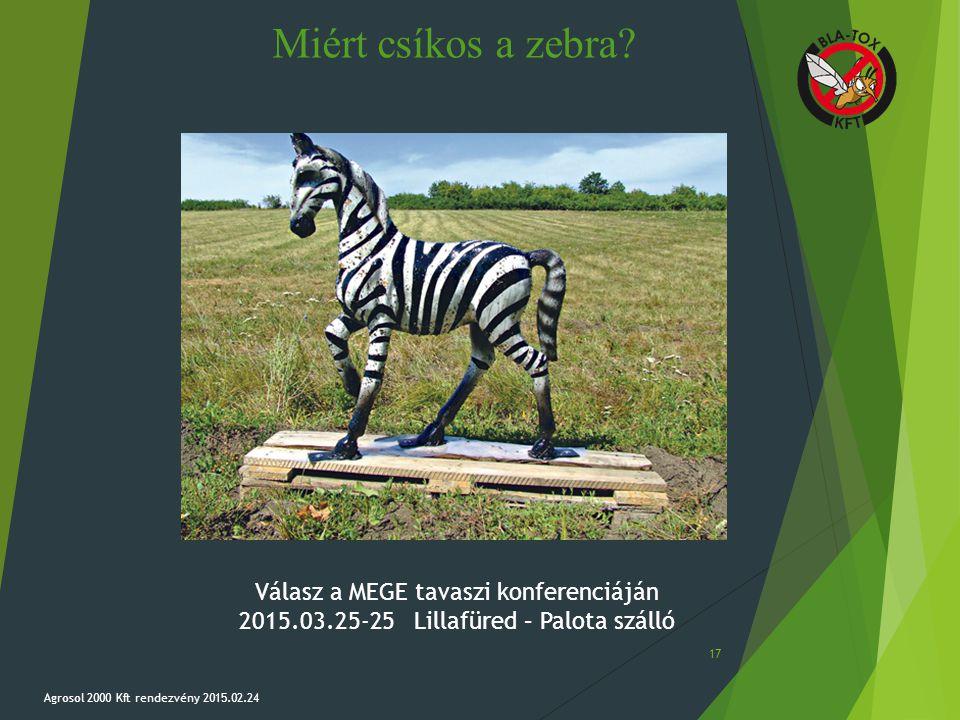 Miért csíkos a zebra Válasz a MEGE tavaszi konferenciáján