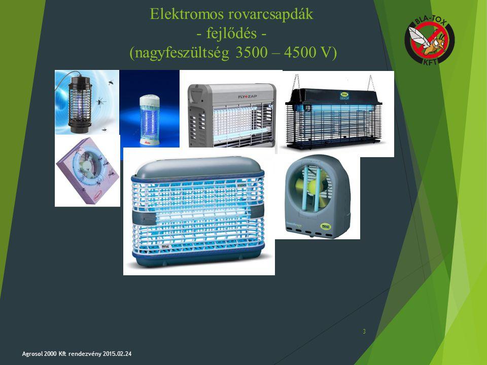 Elektromos rovarcsapdák - fejlődés - (nagyfeszültség 3500 – 4500 V)