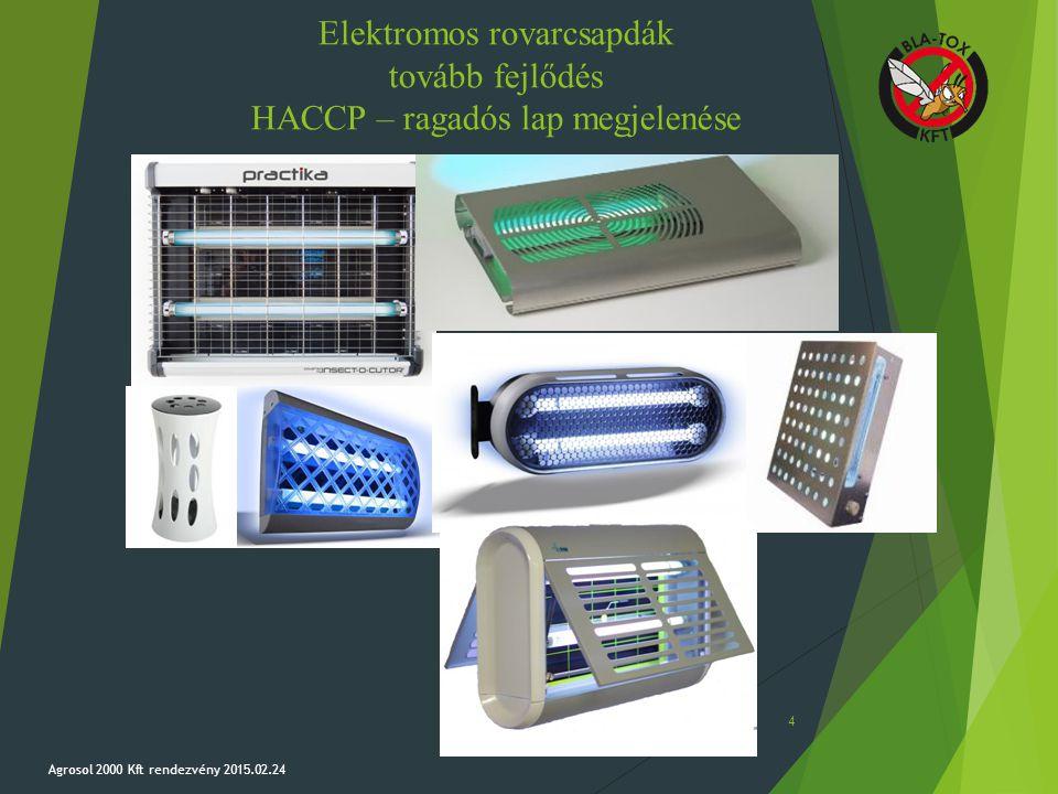 Elektromos rovarcsapdák tovább fejlődés HACCP – ragadós lap megjelenése