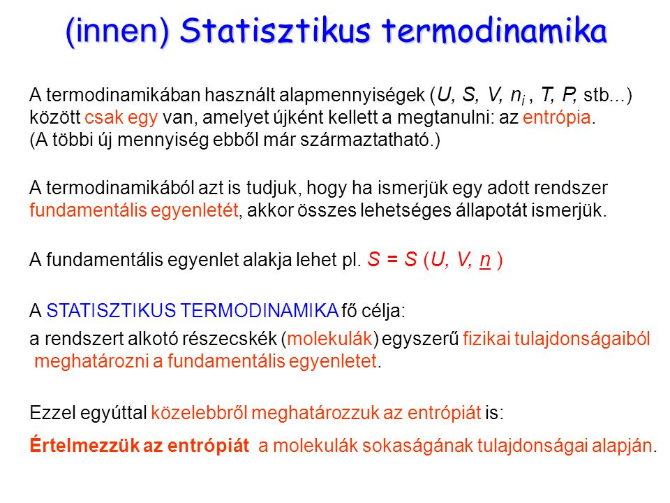 (innen) Statisztikus termodinamika