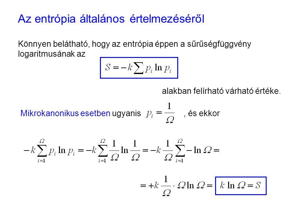 Az entrópia mint rendezetlenség 1