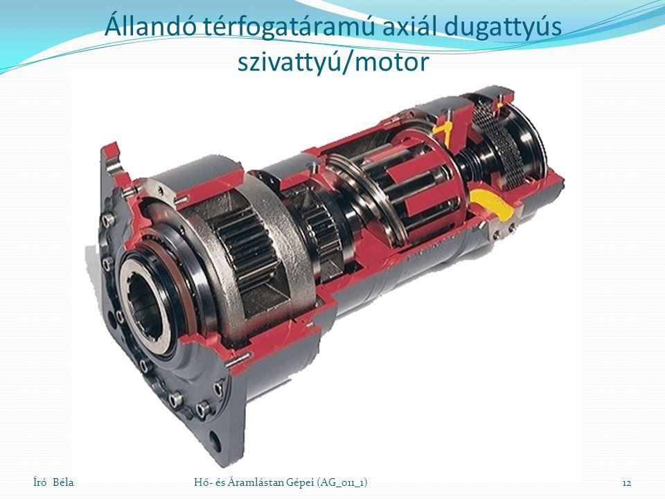 Állandó térfogatáramú axiál dugattyús szivattyú/motor