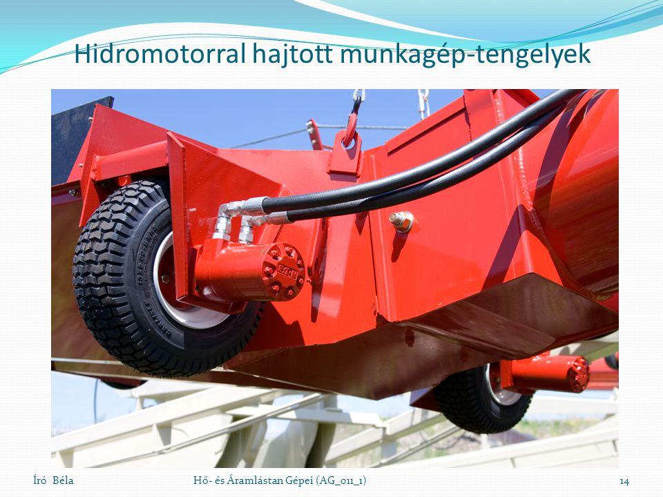 Hidromotorral hajtott munkagép-tengelyek