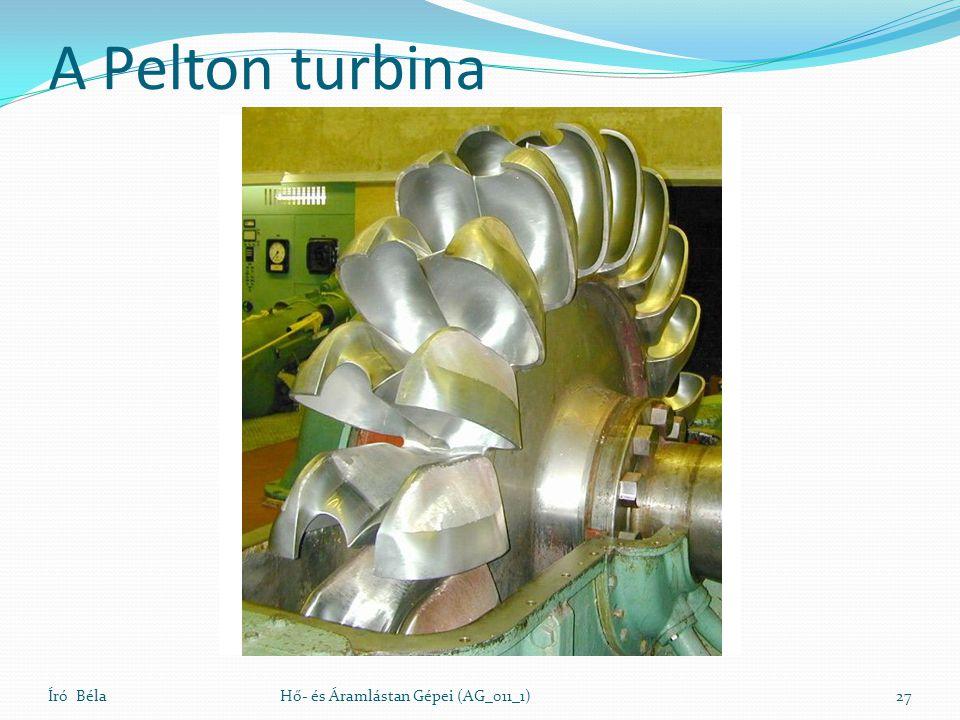 A Pelton turbina Író Béla Hő- és Áramlástan Gépei (AG_011_1)