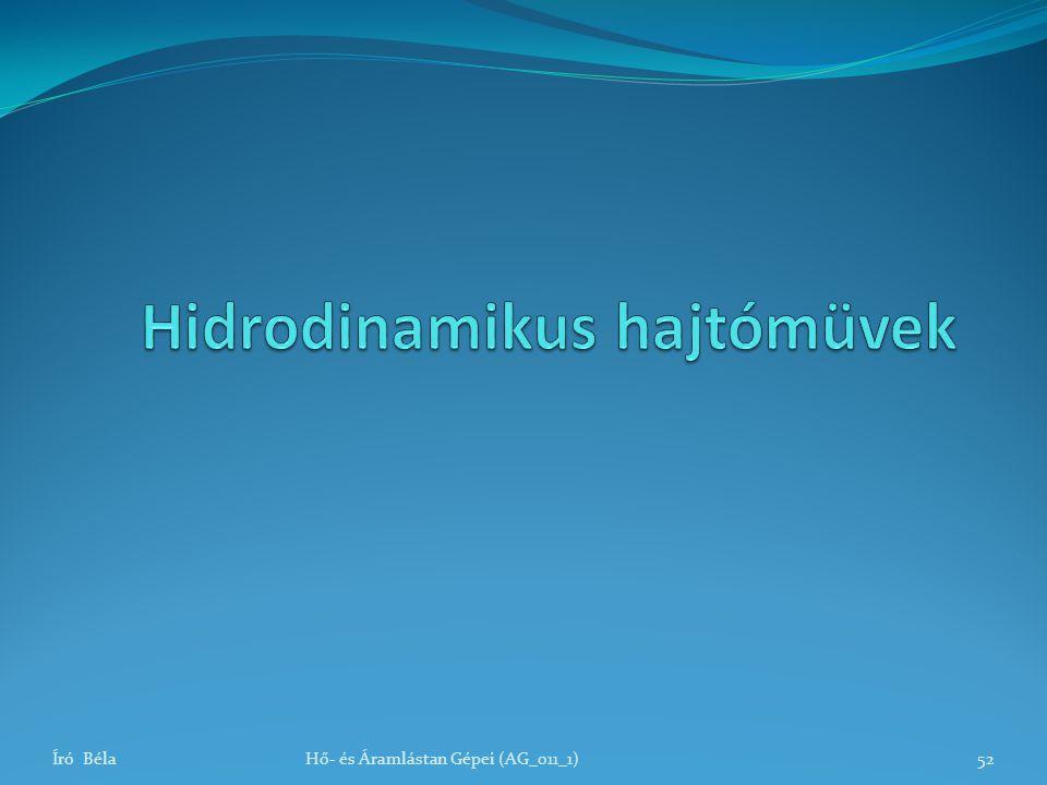 Hidrodinamikus hajtómüvek