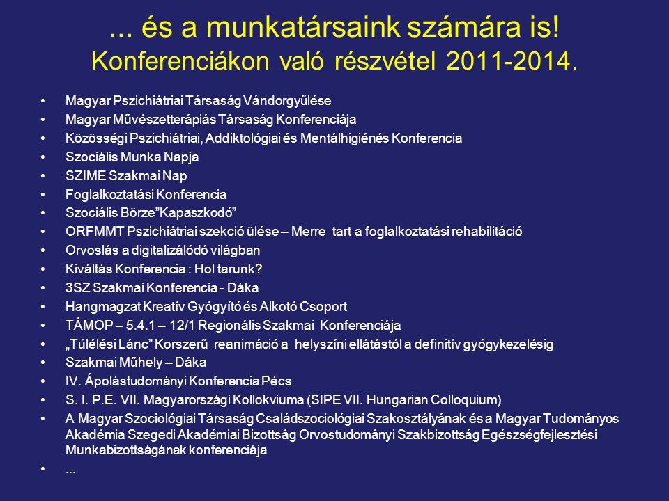 ... és a munkatársaink számára is! Konferenciákon való részvétel 2011-2014.