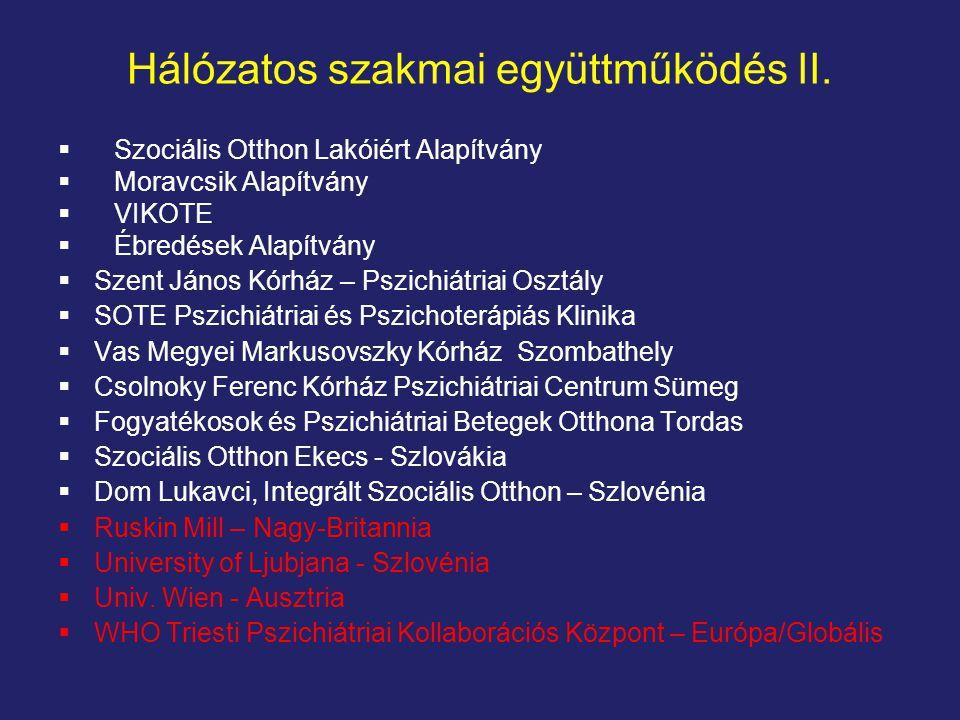 Hálózatos szakmai együttműködés II.