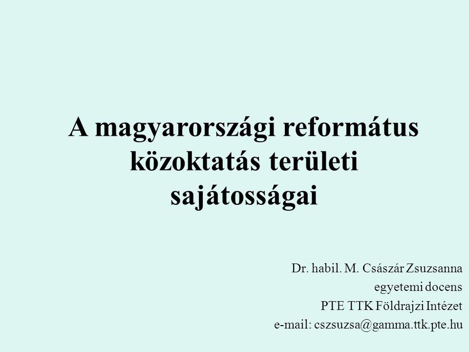A magyarországi református közoktatás területi sajátosságai