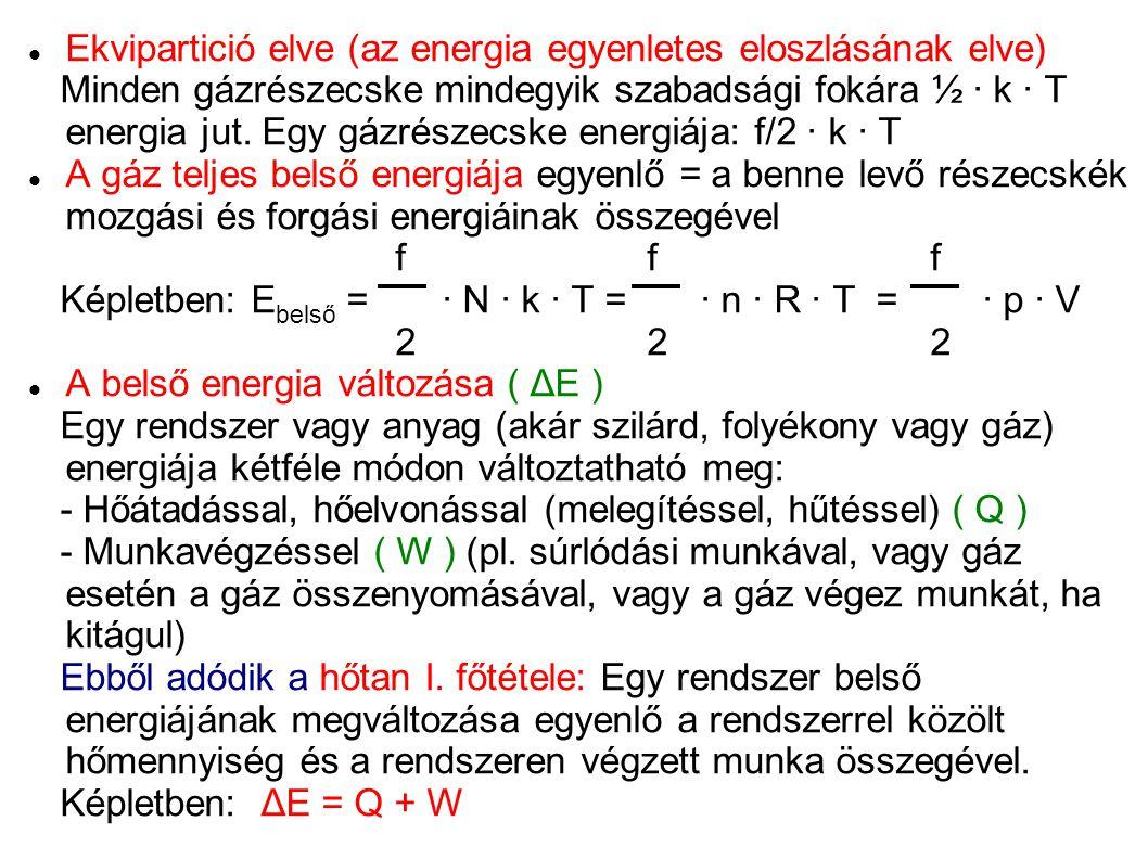 Ekvipartició elve (az energia egyenletes eloszlásának elve)