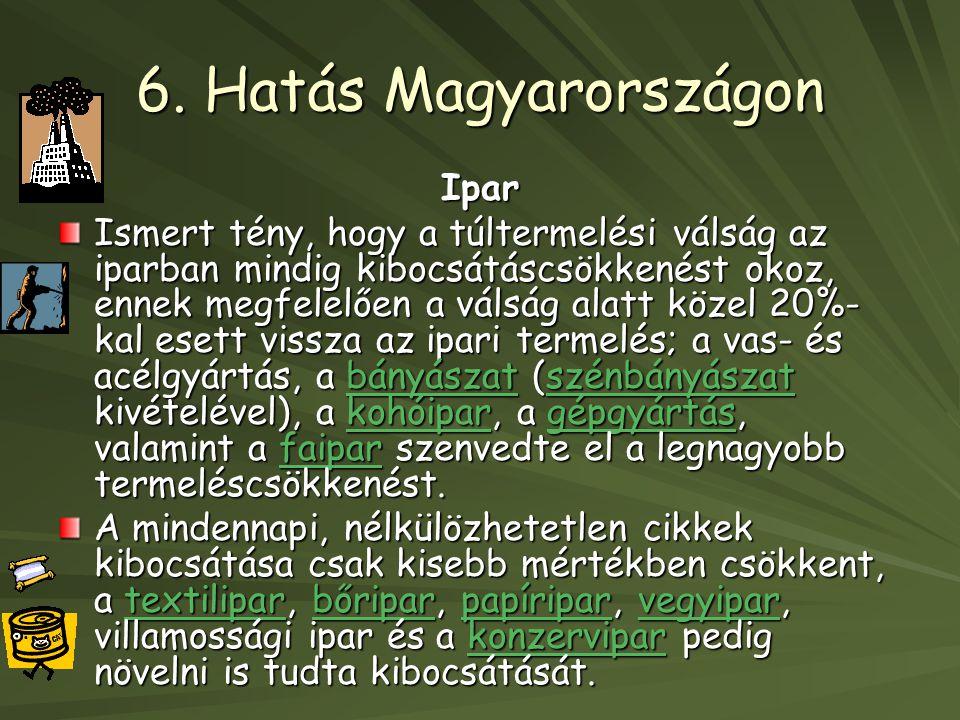 6. Hatás Magyarországon Ipar