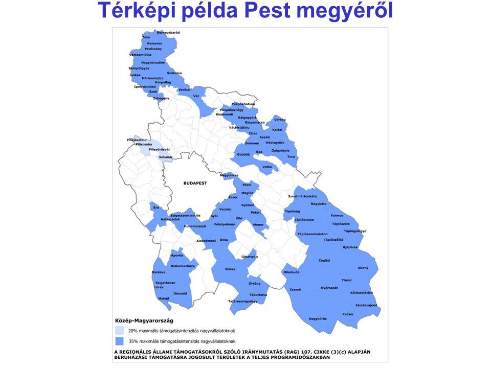 Térképi példa Pest megyéről