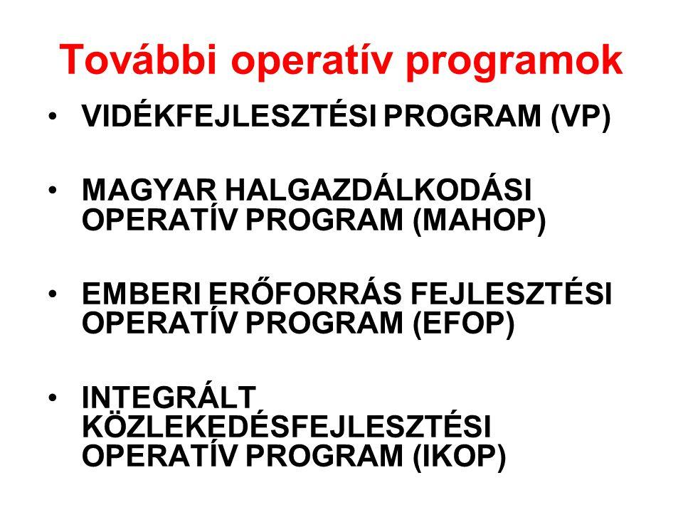 További operatív programok
