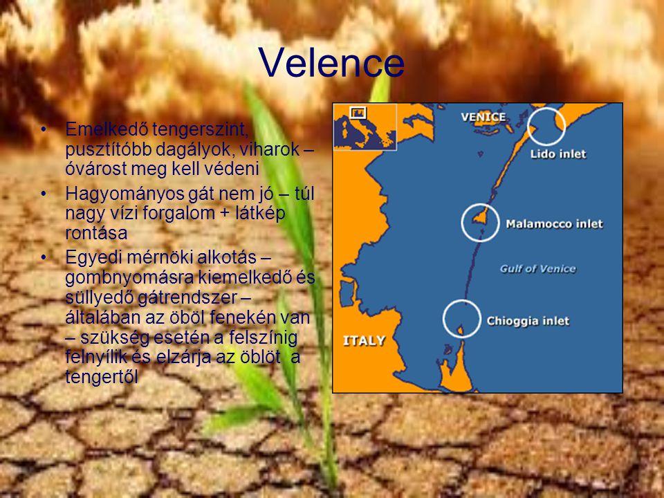 Velence Emelkedő tengerszint, pusztítóbb dagályok, viharok – óvárost meg kell védeni.