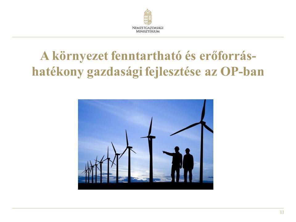 A környezet fenntartható és erőforrás-hatékony gazdasági fejlesztése az OP-ban