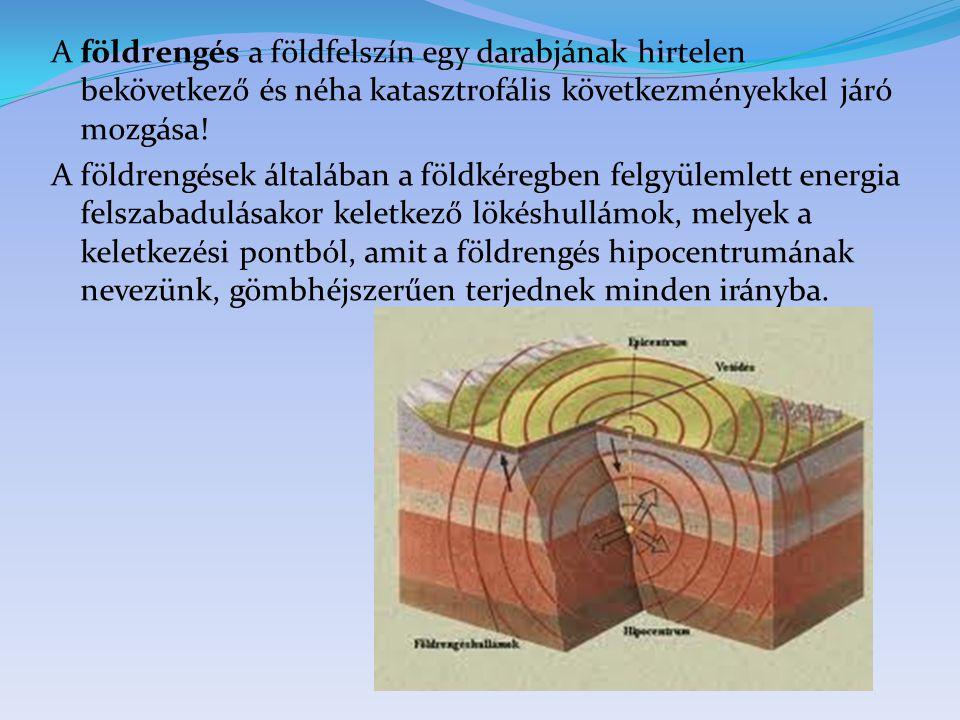 A földrengés a földfelszín egy darabjának hirtelen bekövetkező és néha katasztrofális következményekkel járó mozgása.