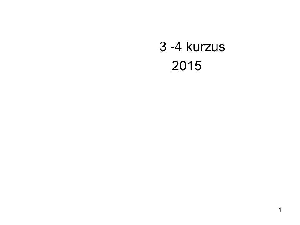 3 -4 kurzus 2015