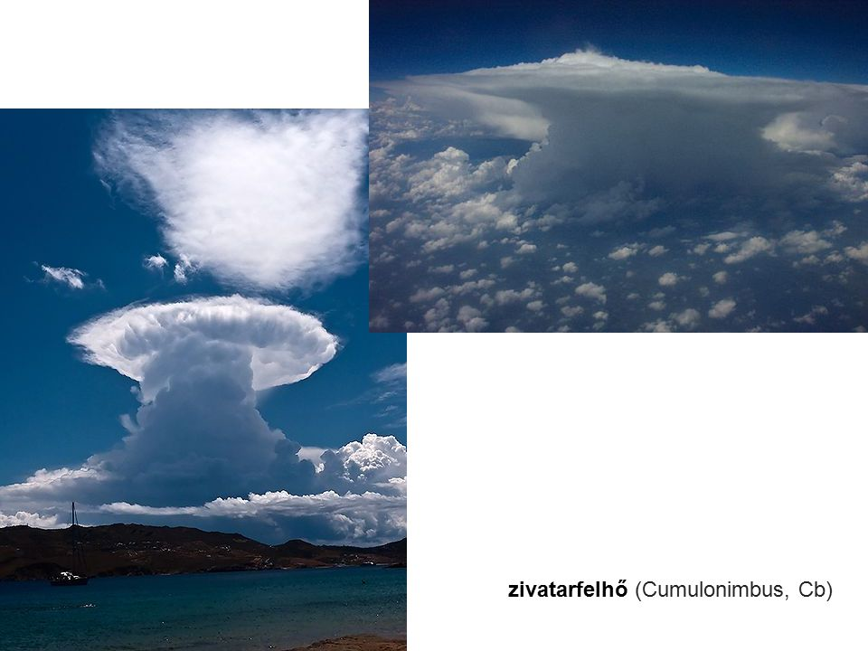 zivatarfelhő (Cumulonimbus, Cb)
