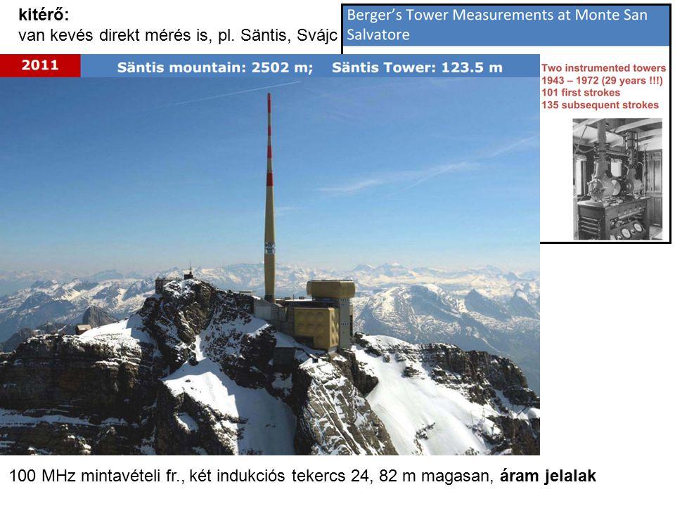 kitérő: van kevés direkt mérés is, pl. Säntis, Svájc.