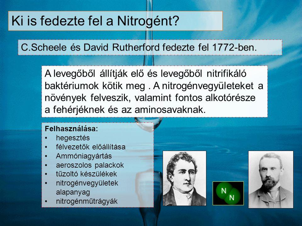 Ki is fedezte fel a Nitrogént