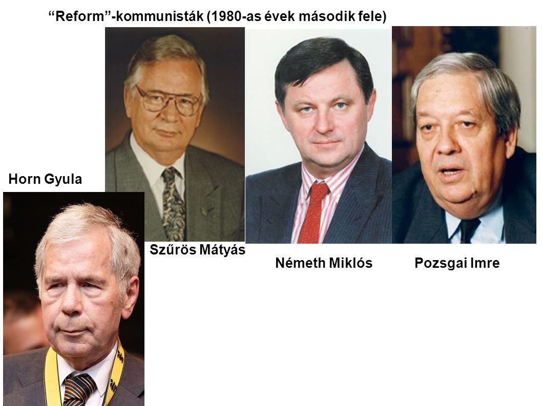 Reform -kommunisták (1980-as évek második fele)