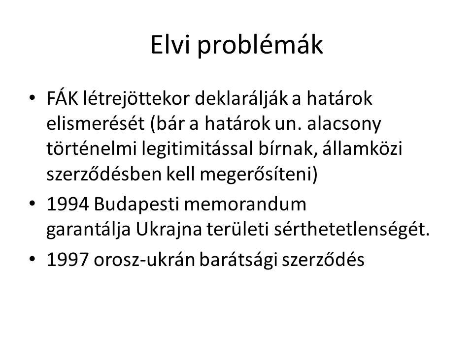 Elvi problémák