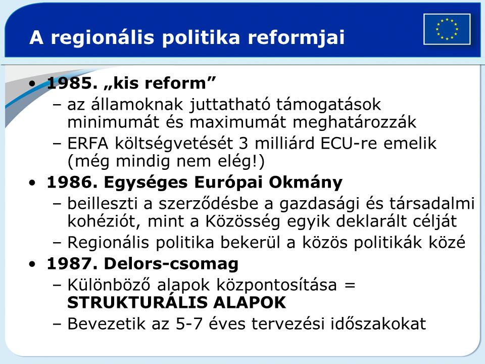 A regionális politika reformjai