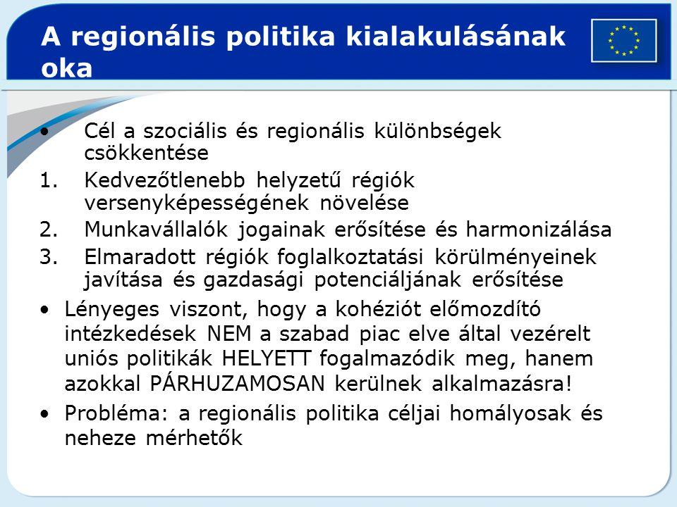 A regionális politika kialakulásának oka