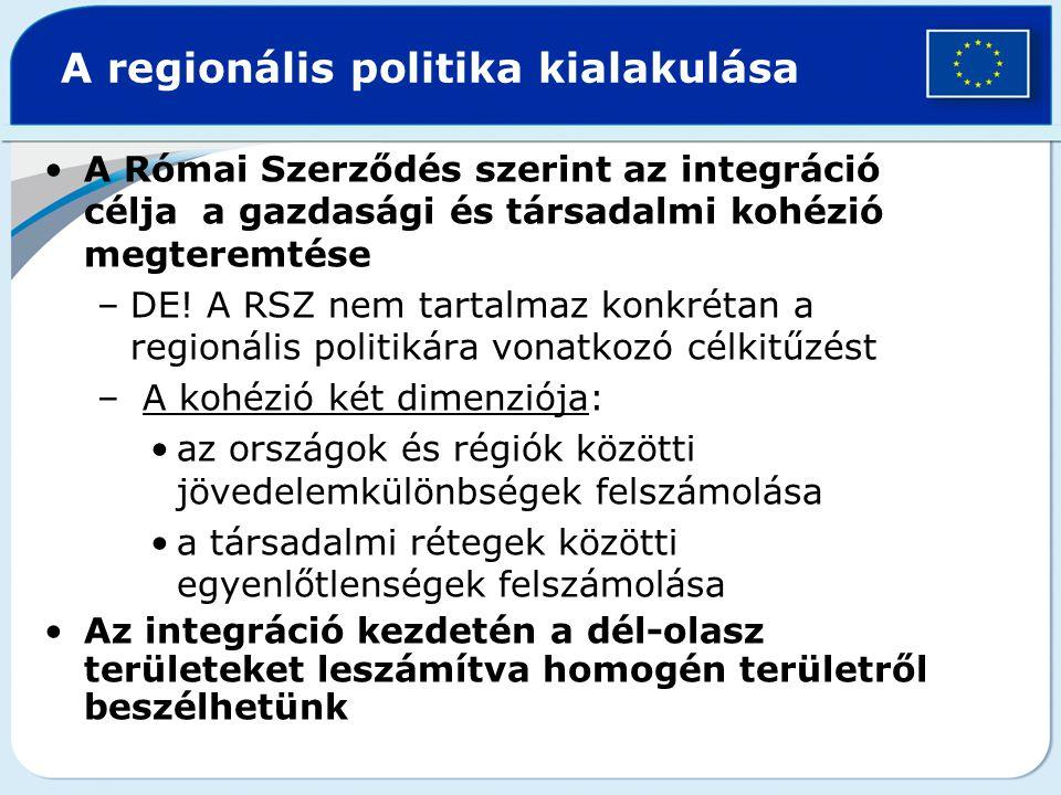 A regionális politika kialakulása