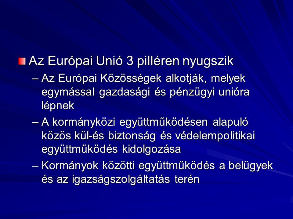 Az Európai Unió 3 pilléren nyugszik