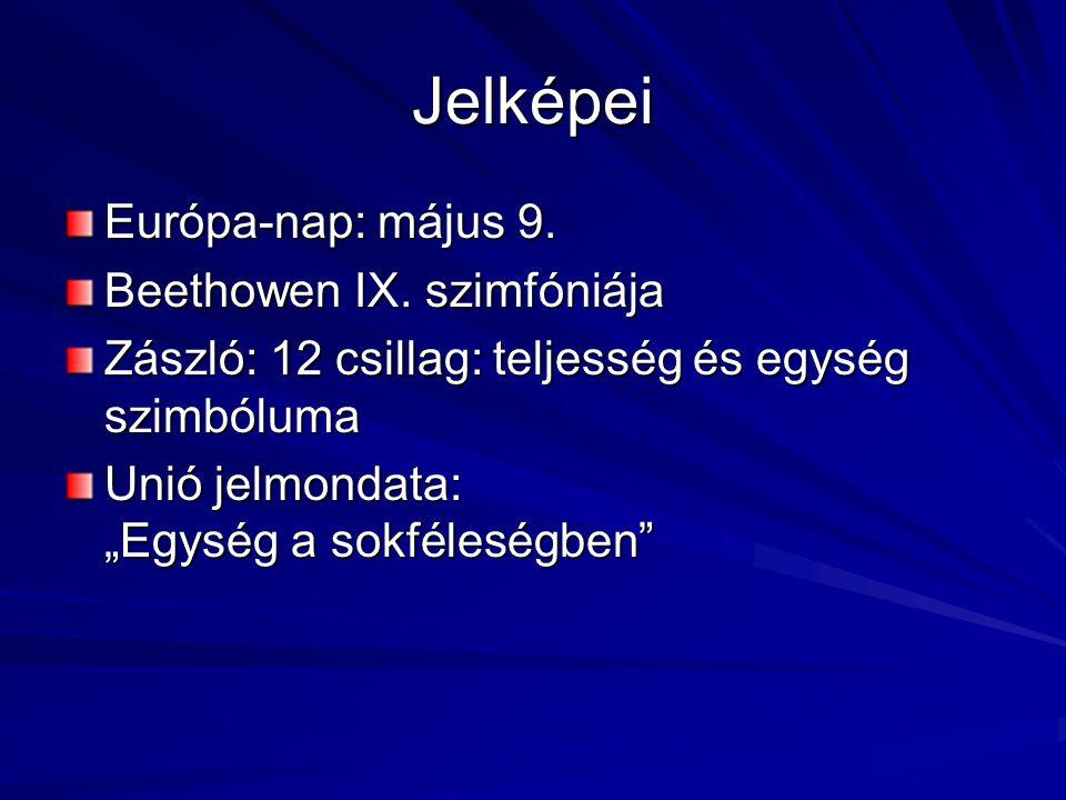 Jelképei Európa-nap: május 9. Beethowen IX. szimfóniája