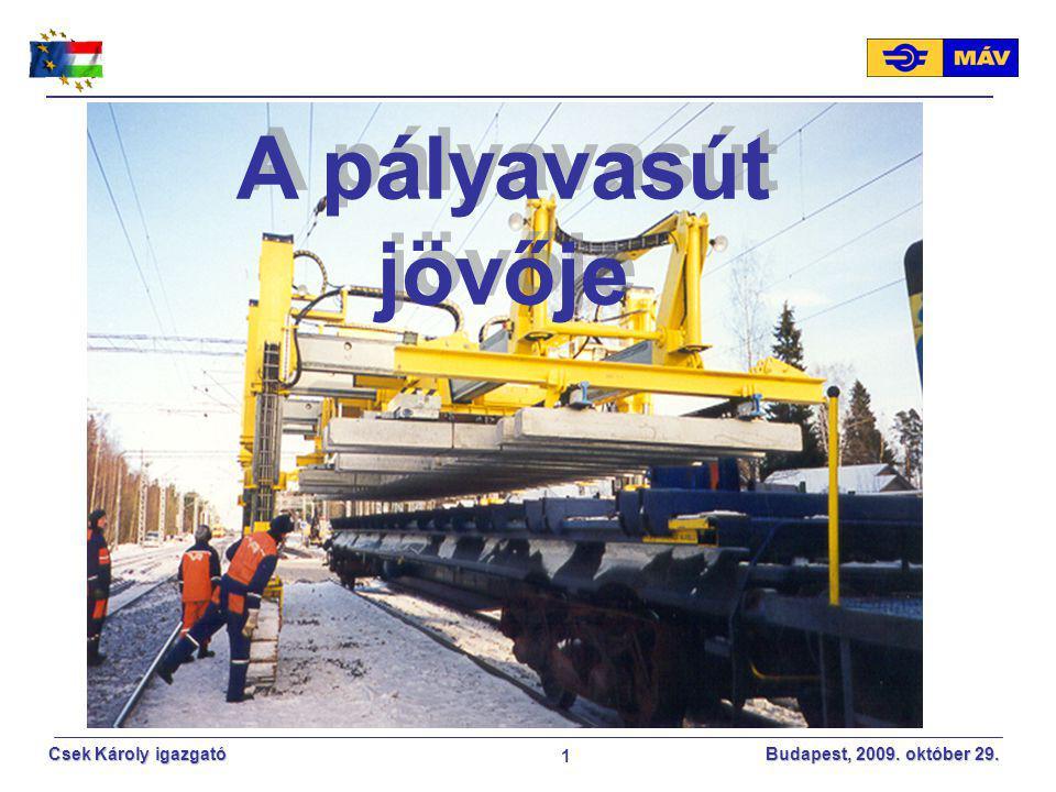 MÁV ZRt 2017.04.08. A pályavasút jövője.