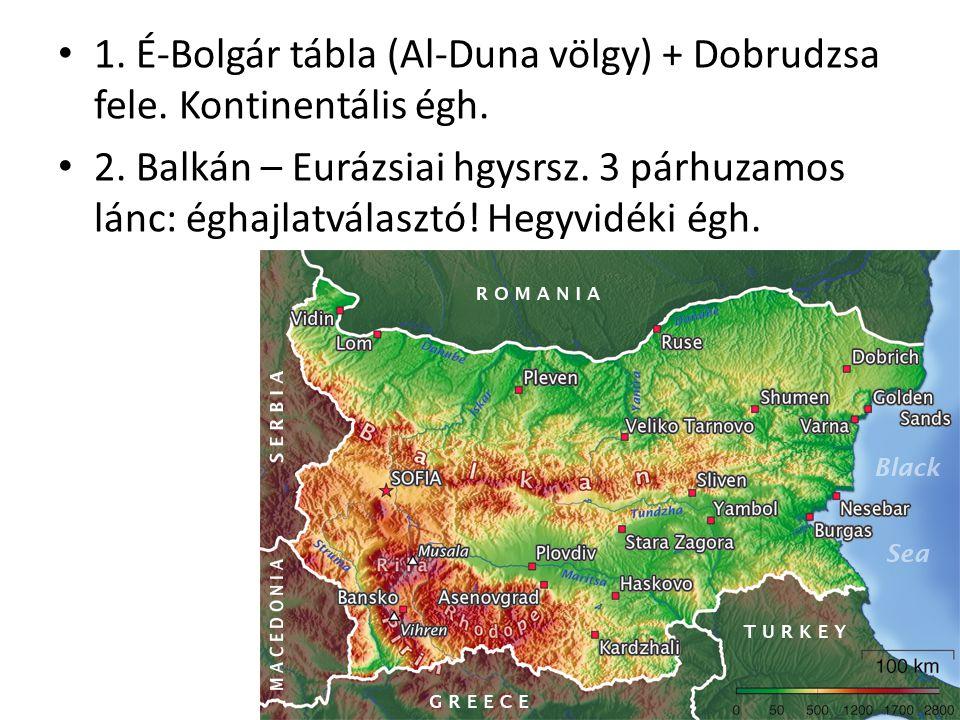 1. É-Bolgár tábla (Al-Duna völgy) + Dobrudzsa fele. Kontinentális égh.