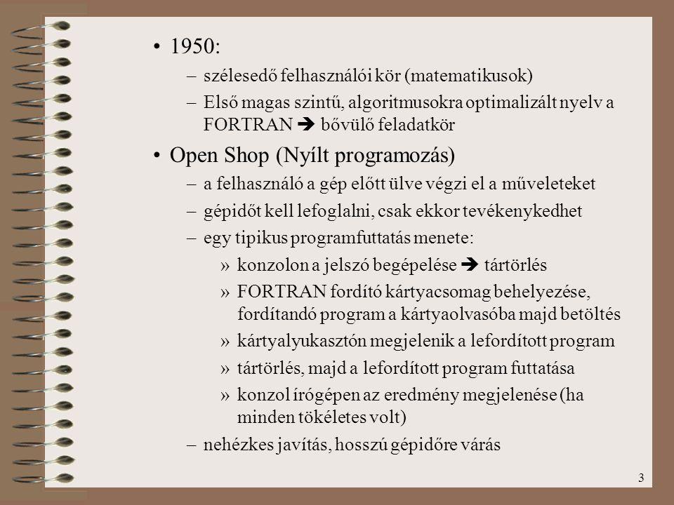 Open Shop (Nyílt programozás)