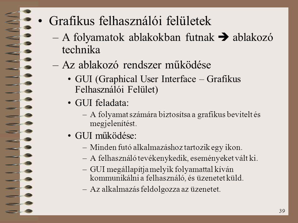 Grafikus felhasználói felületek