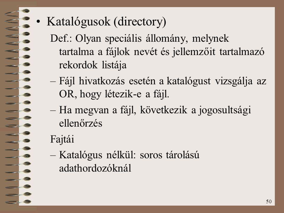 Katalógusok (directory)