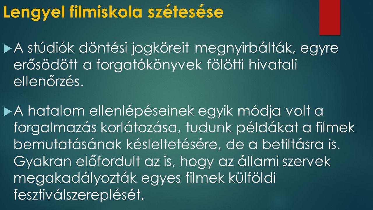 Lengyel filmiskola szétesése
