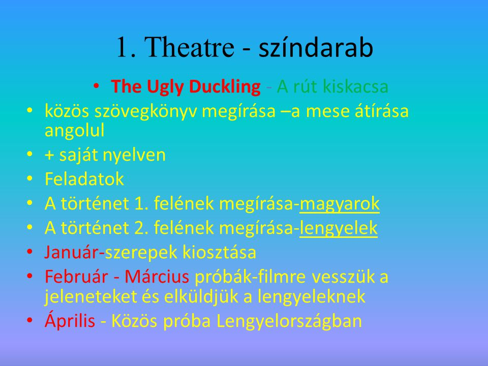 The Ugly Duckling - A rút kiskacsa