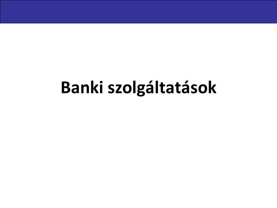 Banki szolgáltatások