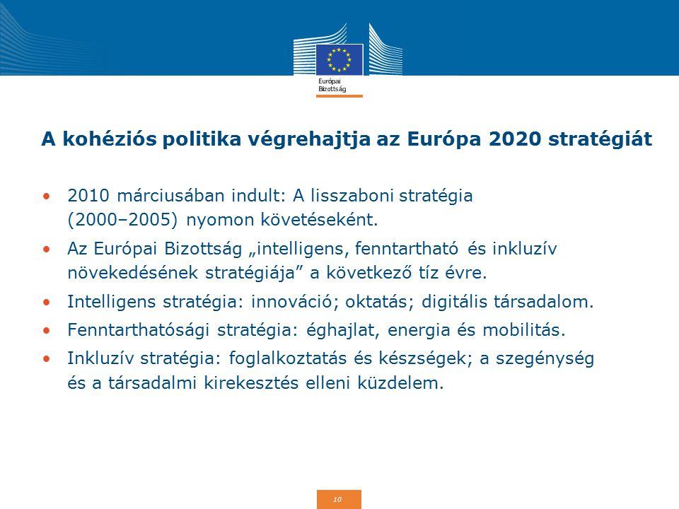 A kohéziós politika végrehajtja az Európa 2020 stratégiát
