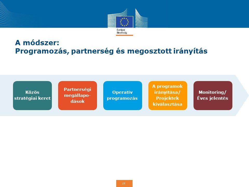 A módszer: Programozás, partnerség és megosztott irányítás