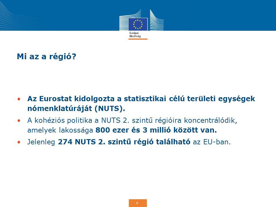 Mi az a régió Az Eurostat kidolgozta a statisztikai célú területi egységek nómenklatúráját (NUTS).