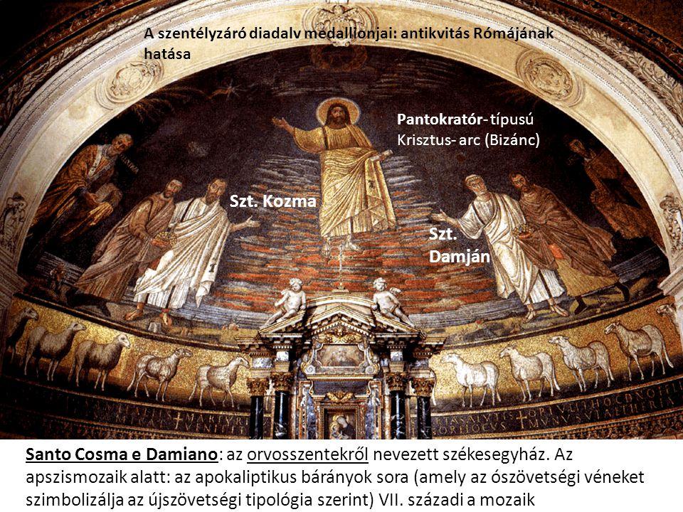A szentélyzáró diadalv medallionjai: antikvitás Rómájának hatása