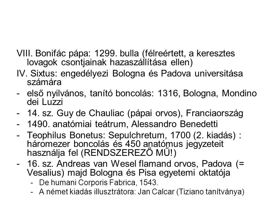 IV. Sixtus: engedélyezi Bologna és Padova universitása számára