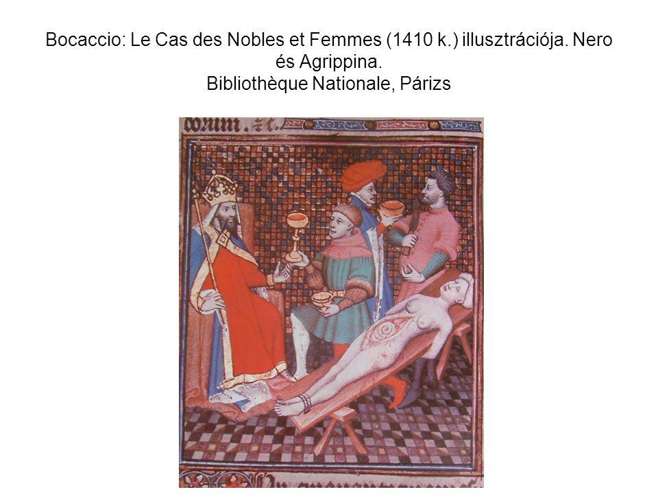 Bocaccio: Le Cas des Nobles et Femmes (1410 k. ) illusztrációja