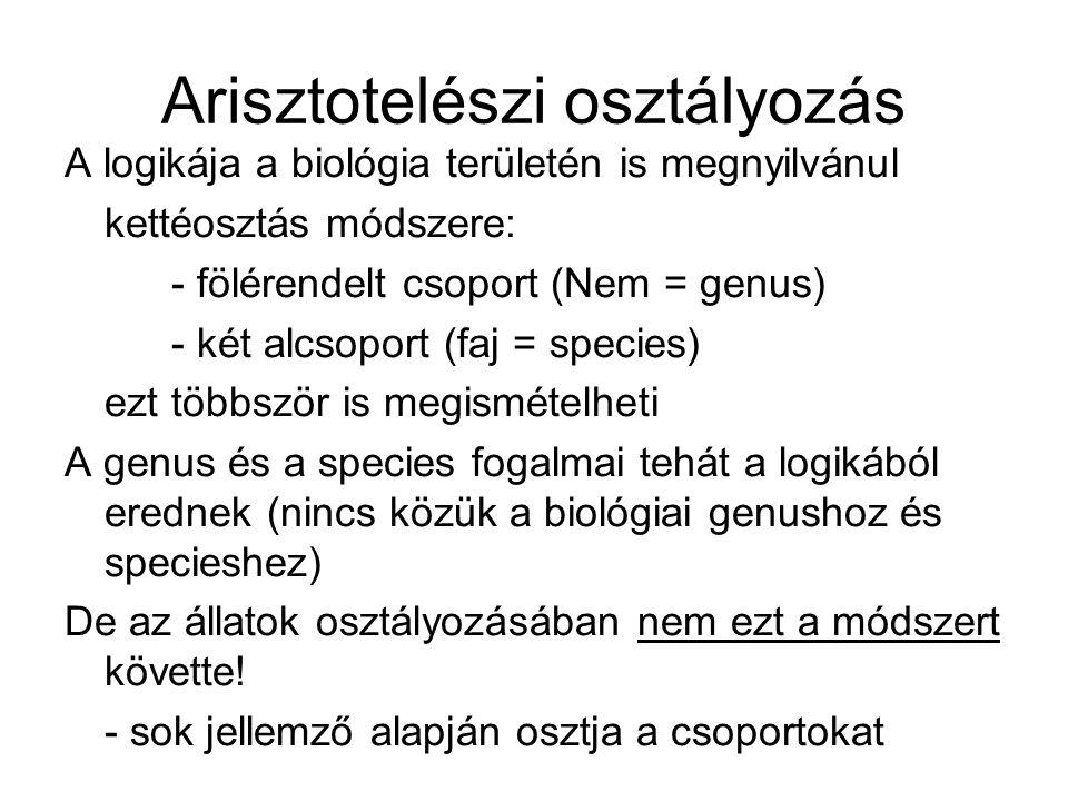 Arisztotelészi osztályozás